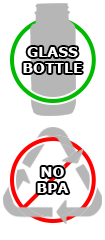 Glass Bottles, no Leaching, No BPA