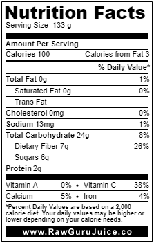 Parsnip NFD nutrition facts